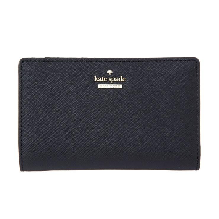KATE SPADE ケイトスペード【PWRU5844 001】BLACK 二つ折り財布(代引不可)【送料無料】