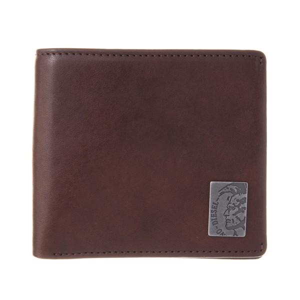 ディーゼル DIESEL【X04996PR013T2189】Seal Brown 二つ折り財布【送料無料】