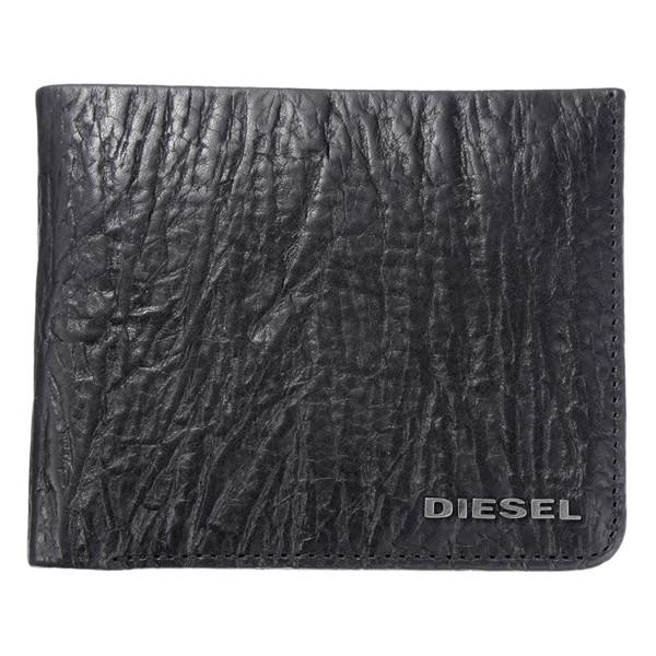 ディーゼル DIESEL【X04138PR080T8013】Black 二つ折財布【送料無料】