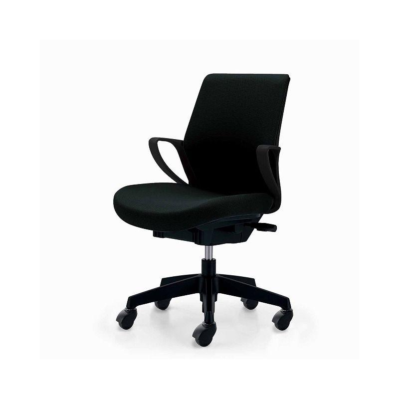 コクヨ オフィスチェア ピコラ CR-G530E6GRE6-V ローバック ブラックシェル 布ブラック フローリング用 【配送・組立・設置込】(代引不可)【送料無料】