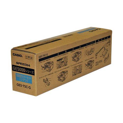 カシオ プリンター用回収協力トナー シアン 1 本 GE5-TSC-G 文房具 オフィス 用品