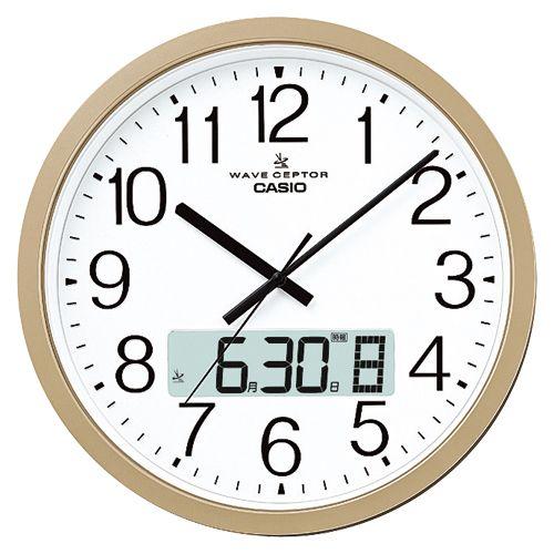 カシオ 電波クロック 掛時計 1 個 IC-4100J-9JF 文房具 オフィス 用品