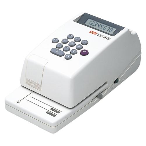 マックス 電子チェックライター EC-310 1 台 EC90001 文房具 オフィス 用品