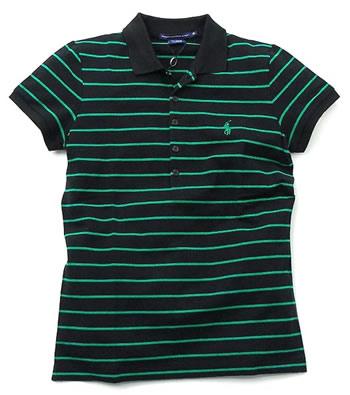 ベストセラー ラルフローレン RALPH LAUREN ポロシャツ GK96C09 SS EVANGELINE POLO BLACK ROYALTY GRN, 出産内祝い専門店 メロディ 59a3e33d