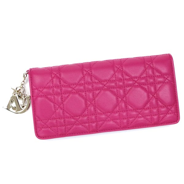 Dior Purse Length Tags Gra S0015ocal Lady Wallet Fucsia Pk