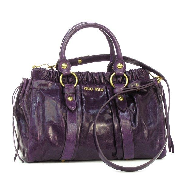 262f9d800512 rikomendo  Miu miu MIUMIU handbag VITELLO LUX RT0383 MUGHETTO L.PUR ...
