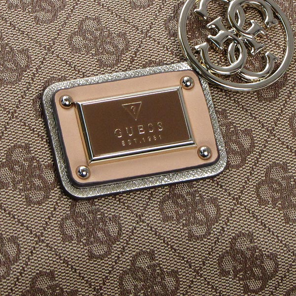 6e56080f32ee Guess GUESS shoulder bag SG452706 LOGO REMIX FRAME SATCHEL BROWN BR
