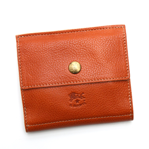 イルビゾンテ IL BISONTE 財布 Wホック C0910 CARAMEL CAMEL