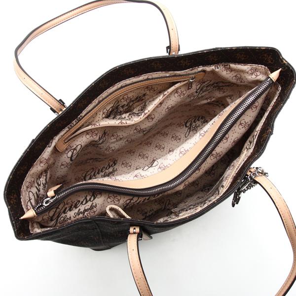 2beaf07a5f71 Guess GUESS tote bag SY453523 DELANEY MEDIUM CLASSIC TOTE BROWN BR P25Jan15