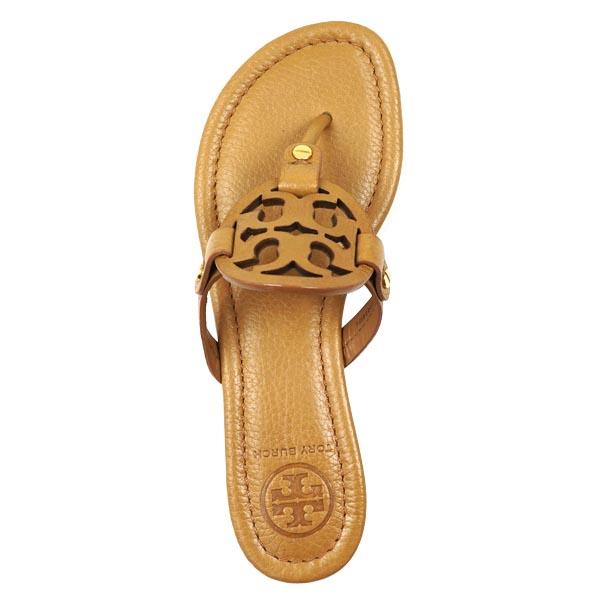 f2be737b3 Tory Burch TORY BURCH Womens Sandals 50008675 MILLER TUMBLED LEATHER ROYAL  TAN BR