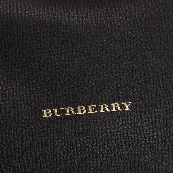 バーバリー BURBERRY ショルダーバッグ LITTLE CRUSH HOUSE CHECK DERBY LEATHER BLACK BKnwkP08OX