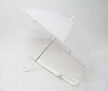 50cm エコロジービニール傘 ホワイト 60本セット 型番#505【送料無料】