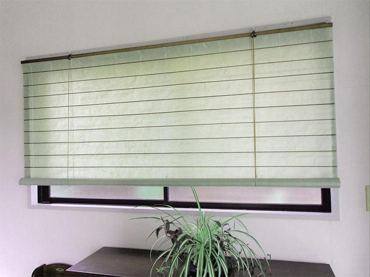 カラー和紙調スクリーン RH-1195W わさび 1800×1800(代引不可)【送料無料】