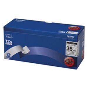 ブラザー工業(BROTHER) 文字テープ TZe-161V透明に黒文字 36mm 5個【int_d11】