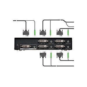 フルHD対応DVIディスプレイ分配器(4分配)【int_d11】