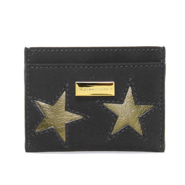 STELLA McCARTNEY (ステラマッカートニー) 431019 W8140 1000 スター 星型パッチワーク カードケース 名刺入れ Credit Card Case Gold Stars【代引不可】