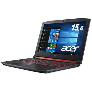 Acer AN515-52-A58H (Core i5-8300H/8GB/128GB SSD+1TBHDD/ドライブなし/15.6型/Windows 10 Home(64bit)/シェールブラック)【送料無料】
