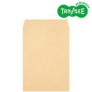 (まとめ)TANOSEE クラフト封筒 テープ付 85g 角2 〒枠なし 500枚入×3パック