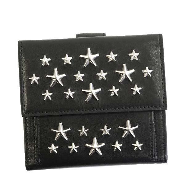 Jimmy Choo(ジミーチュウ) 二つ折り財布(小銭入れ付) FRIDA BLACK