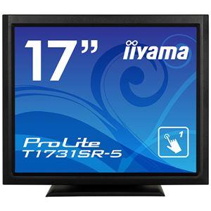 iiyama 17型タッチパネル液晶ディスプレイ ProLite T1731SR-5(抵抗膜方式/USB通信/シングルタッチ/防塵防滴/D-SUB/HDMI/DP) ブラック【送料無料】