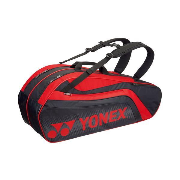 Yonex(ヨネックス) TOURNAMENT SERIES ラケットバック6 リュック付き(ラケット6本用) ブラック×レッド BAG1812R