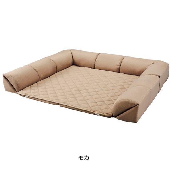 ゆったり・まったりクッション一体型ラグ(カーペット・絨毯) 【50mm厚U字型小】 モカ