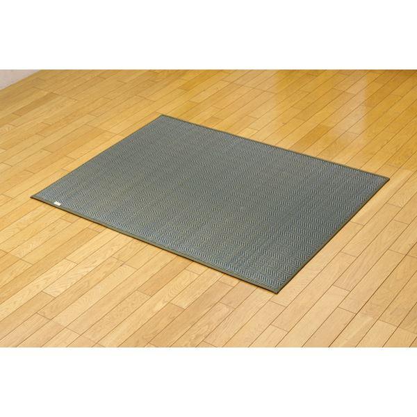 純国産 シンプルモダンい草ラグカーペット『Fルーツ』 グリーン 95×130cm