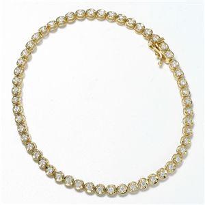 K18 1CTダイヤモンドテニスブレス YG(イエローゴールド)