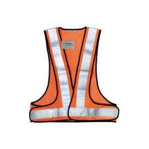 (まとめ買い)スリーエム 3M 高視認性反射ベストSVP-02R レッドオレンジ 【×6セット】
