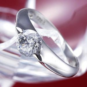 PT900(プラチナ)0.9ctダイヤモンドリング(指輪)159713 13号【鑑別書付き】