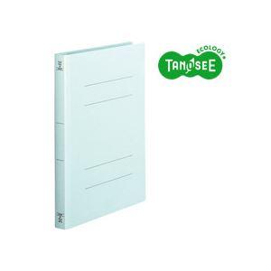 (まとめ)TANOSEE フラットファイル[厚とじW]A4タテ 250枚収容 青 10冊入×20パック