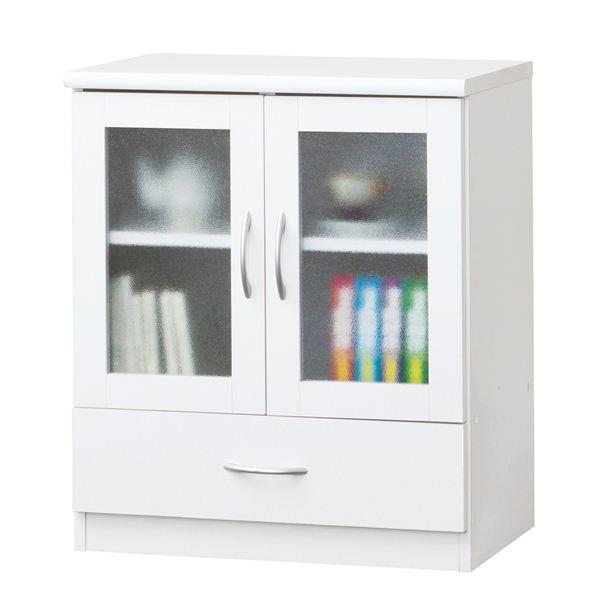 《白い家具工房》ガラスドアキャビネット 23682 【組立】