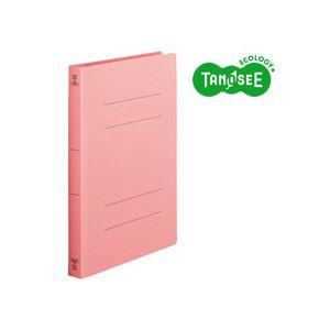 (まとめ)TANOSEE フラットファイル[厚とじW]A4タテ 250枚収容 ピンク 10冊入×20パック
