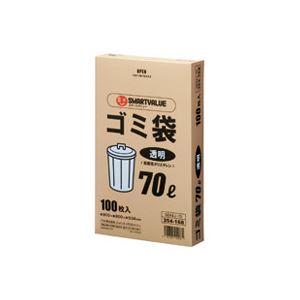 (まとめ買い)ジョインテックス ゴミ袋 LDD 透明 70L 100枚 N044J-70 【×4セット】