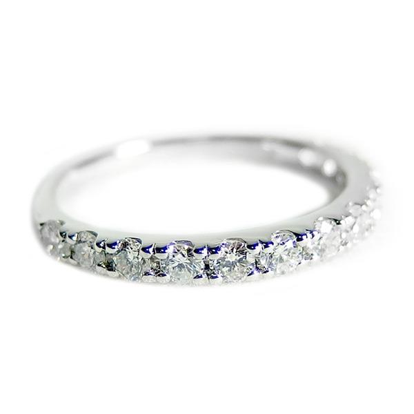 【鑑別書付】プラチナPT900 天然ダイヤモンドリング ダイヤ0.50ct 10.5号 ハーフエタニティリング