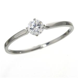 大きめだけPT900/0.3ctダイヤモンドリング 81610/4爪19