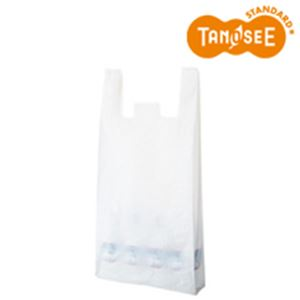 (まとめ)乳白レジ袋 No80 100枚入×10