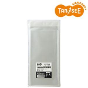 (まとめ)TANOSEE CPP袋 長3用フタ・テープ付 120×235+40mm 100枚入×100パック
