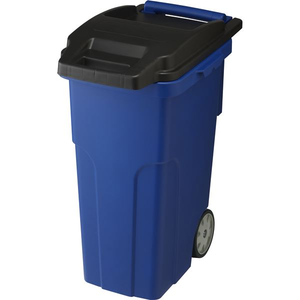 可動式 ゴミ箱/キャスターペール 【45C4 4輪】 ブルー フタ付き 〔家庭用品 掃除用品〕【代引不可】