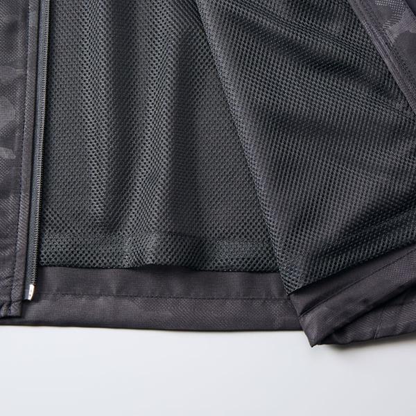 シャカシャカと音がしない撥水&防風加工・リフレクター・裏地付スタンドジップジャケット ブラック XL【ポイント10倍】