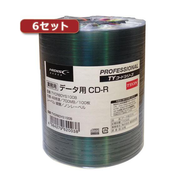 6セットHI DISC CD-R(データ用)高品質 100枚入 TYCR80YS100BX6
