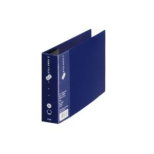 (業務用100セット) プラス 2リングファイルFC-151RF B6E 35mmネイビー ×100セット