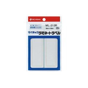 (業務用200セット) ニチバン マイタックラミネートラベル ML-213R 赤枠 ×200セット