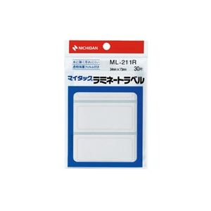 (業務用200セット) ニチバン マイタックラミネートラベル ML-211R 赤枠 ×200セット