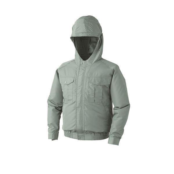 空調服 フード付き ポリエステル製長袖ワークブルゾン リチウムバッテリーセット BP-500FC07S7 モスグリーン 5L
