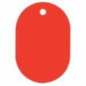 (業務用30セット) 西敬 番号札 BN-L 大 無地 赤 50枚入 ×30セット