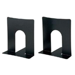(業務用5セット) プラス ブックエンド BS102BK 幅広タイプ 黒 10組 【×5セット】