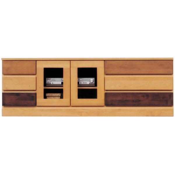 3段ローボード(テレビ台/テレビボード) 【幅150cm】 木製(天然木) 日本製 ナチュラル 【完成品】【代引不可】