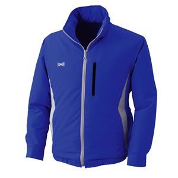 空調服 フード付き ポリエステル製長袖ブルゾン リチウムバッテリーセット BP-500BFC04S6 ブルー 4L