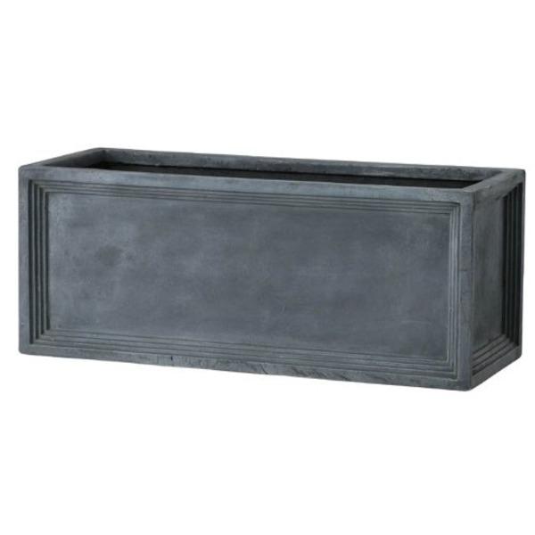 軽量植木鉢/プランター 【Pプランター型 グレー 幅80cm】 穴有 ファイバー製 『LLブリティッシュ』